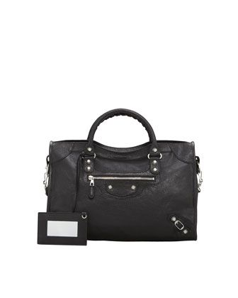 Giant 12 Nickel City Bag by Balenciaga at Neiman Marcus.