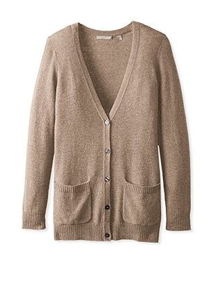 Cashmere Addiction Women's Button Down Boyfriend Cardigan Sweater ...