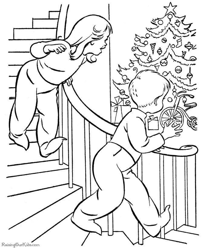 vintage christmas colouring pages page 2 - Colouring Papers