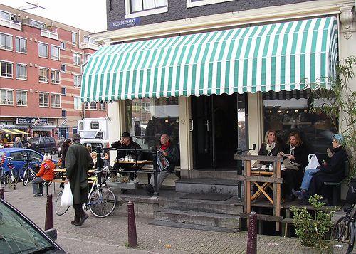 Cafe Winkel 1 by Westermarkt, Amsterdam..mondaymorning, best apple pie!