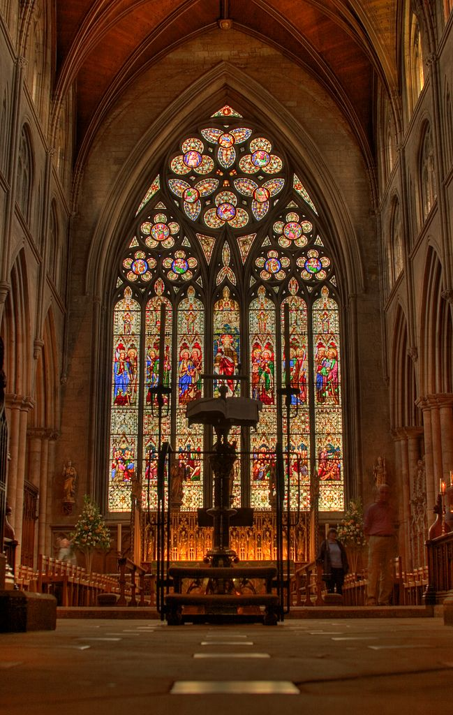 "https://flic.kr/p/52jZDU | Ripon Cathedral | Canon EOS 10d : 28mm 1/10 & 1.5"" @ f8 The east window inside Ripon Cathedral - 2 shots taken at different exposures and then HDR treated My best ever photo yet??? I am certainly extremely pleased with it :-)"