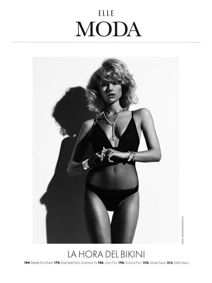 Ready for a Swim: Farah Holt by Hannah Khymych for Elle Mexico May 2013