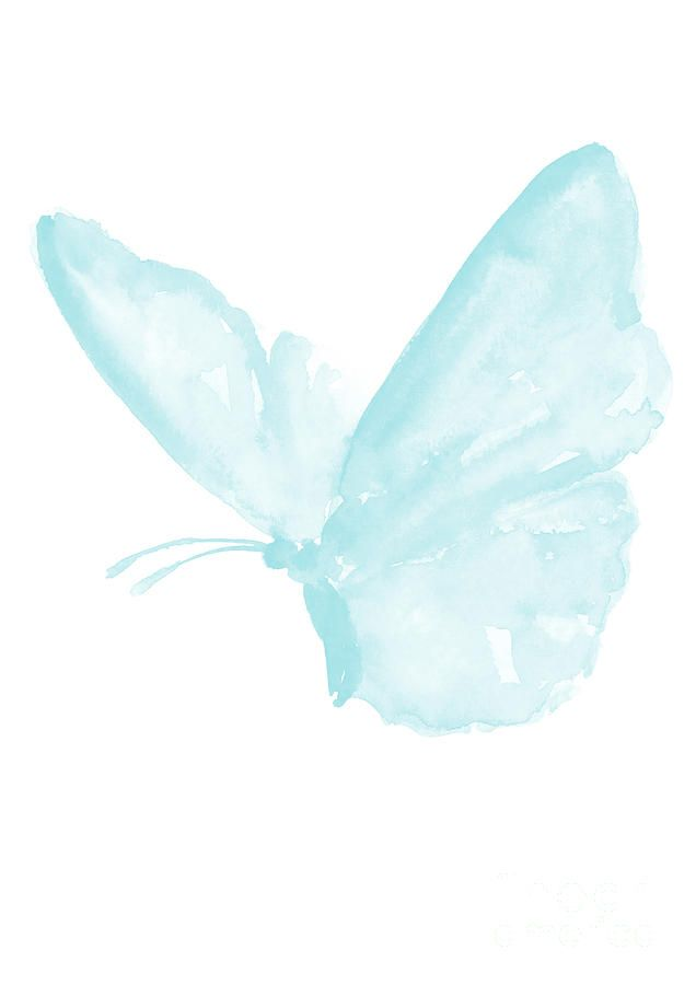 I'm in love with this baby blue butterfly watercolor painting. Sweet wall art for kids room decor. Follow us for more nursery decor idea or check out our site mysleepymonkey.com