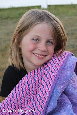Sew a Faux Chenille Blanket. Grandma made this one for my youngest daughter. A soft and beautiful quilt.