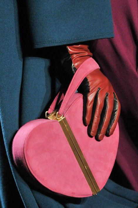 heart pink bag