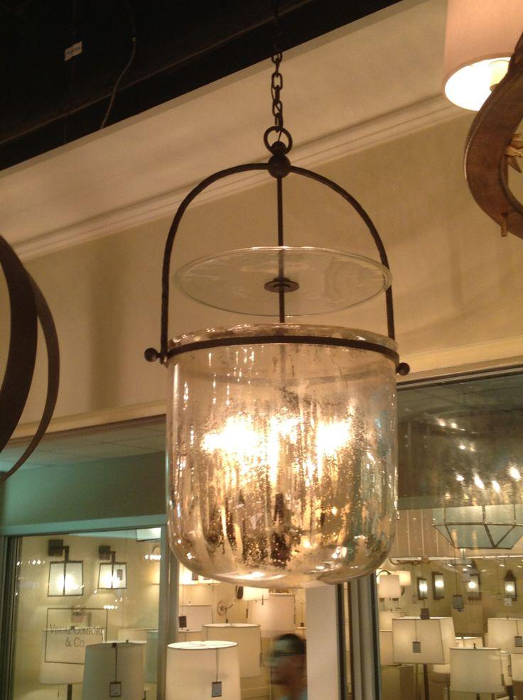 Lorford smoke bell lantern in aged iron and mercury glass via circa lighting