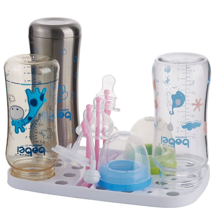 Bobei Mini bayi dilepas makan botol rak pengeringan rak puting pacifier feeding botol pemegang cangkir gantung rak Rak