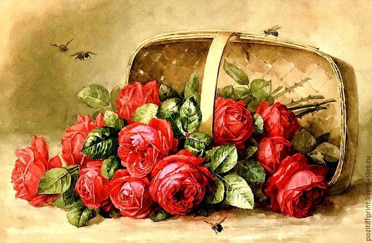 открытки под старину цветы женственных