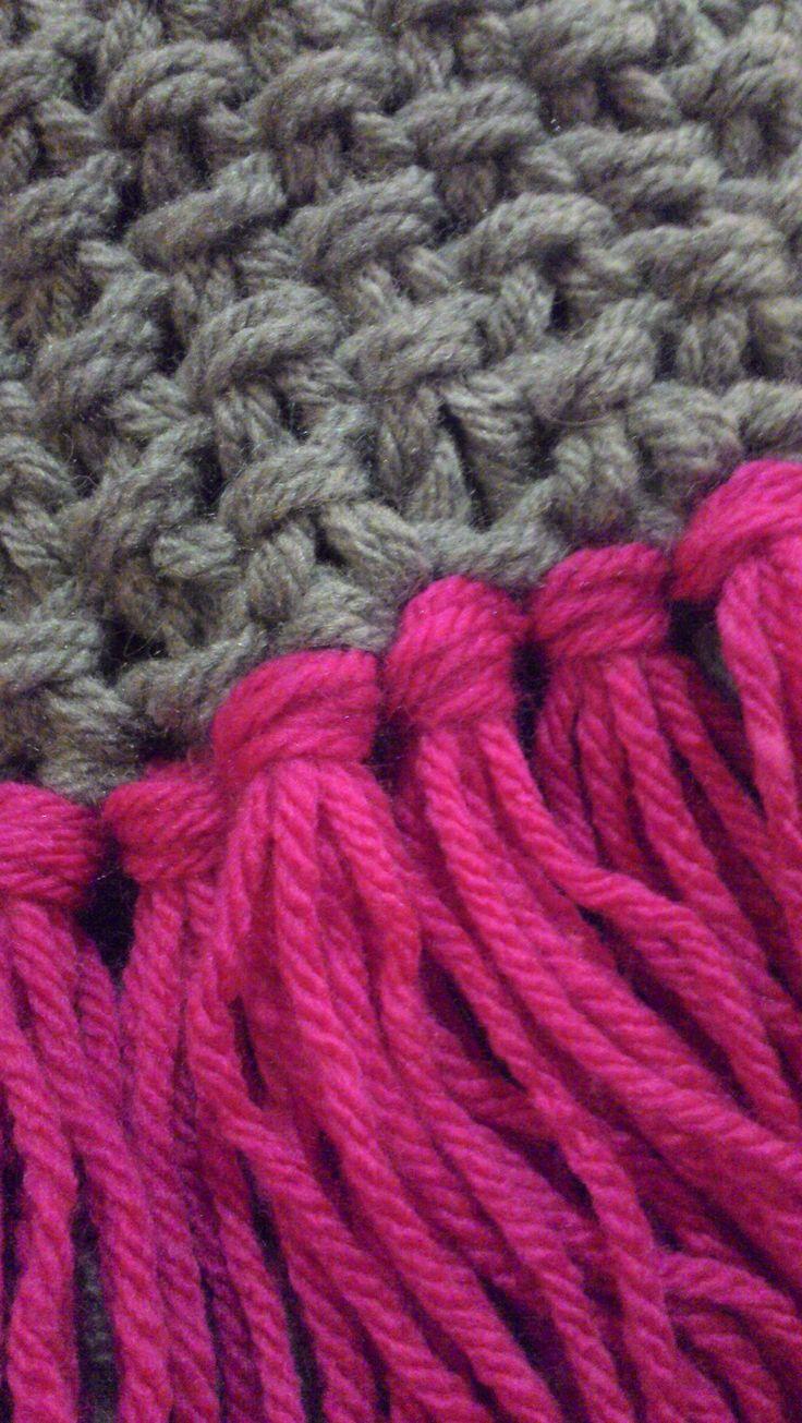 My chunky, double yarn scarf | Scarf yarn, Baby knitting ...