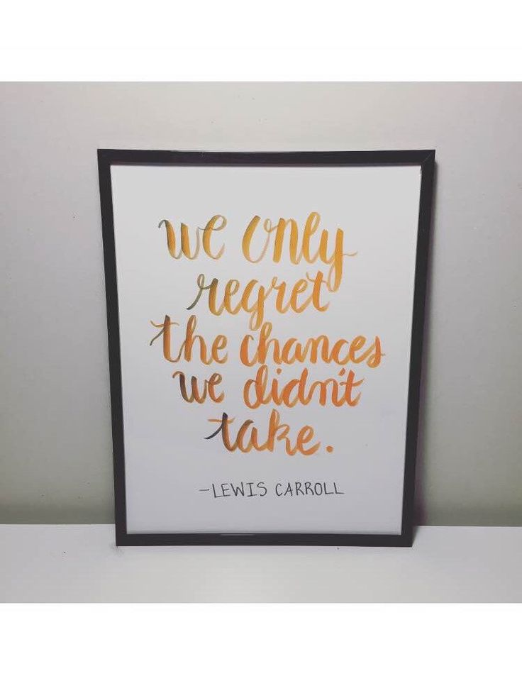 Modern Calligraphy Wall Decorations Regrets Typography Letterpresses Decor