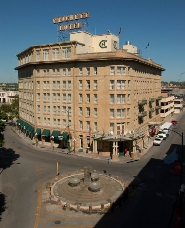 Historical Crockett Hotel ( Deb & Mom were close to the Alamo, shopping, food court at the river Mall and taxi boat rides . Wonderful!!!)2015