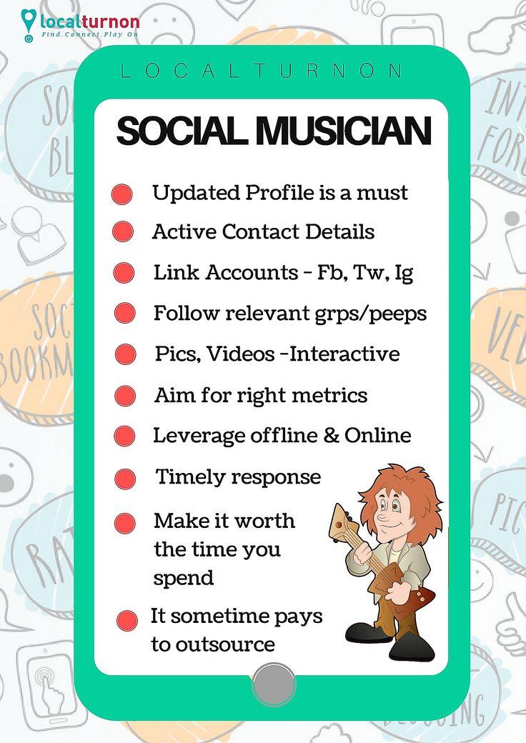 SOCIAL CHECK LIST FOR MUSICIANS !   #turnon #Music || #turnon #Happiness || #turnon #life with #localturnon !