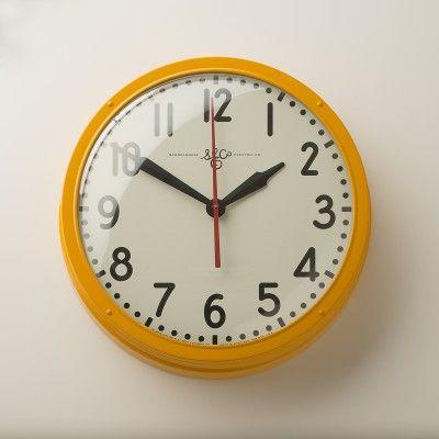 "Schoolhouse Electric Clock 17.5"", 5"" depth | Schoolhouse Electric & Supply Co. $285.00"