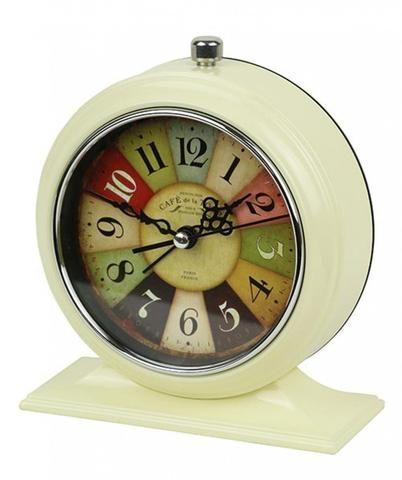 Cream Coloured Vintage Alarm Clock - The Hippie House
