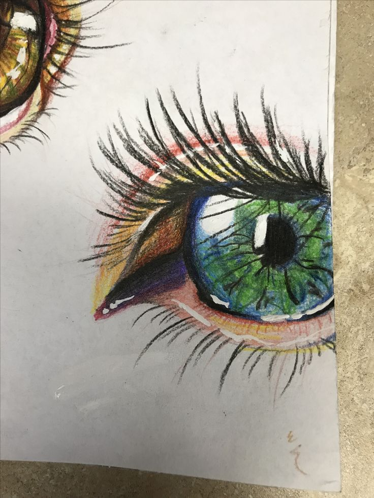 Eyes are my favorite by Kat (Kaden) Bromley ●WHY I LIKE● Well first of all this is a VERY good piece of art! The highlight makes this all the more realistic. Plus I also 💚💛💚 Eyes! They're so fun to draw! 😍👌 -@Jodi Taylor Art Studio
