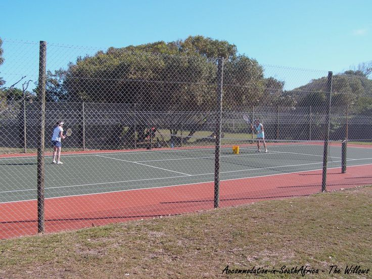 Tennis Courts at The Willows Resort.  Resorts in Port Elizabeth.