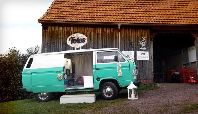 Fotobus mieten, Fotobox auf Rädern, Fotobulli, Photobooth mit Sofortausdruck, Highlight auf Hochzeiten und Messen