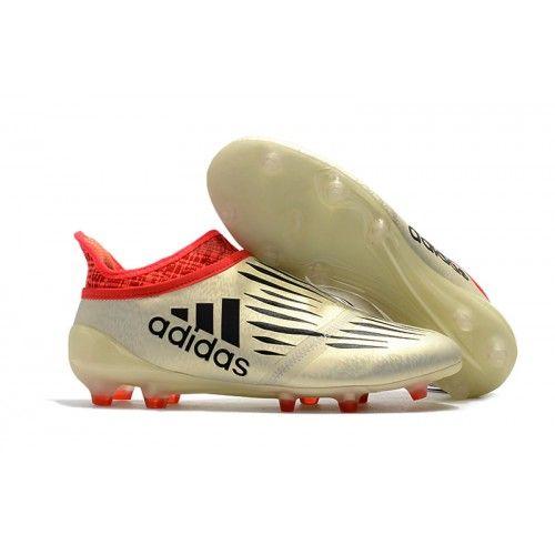 Det seneste Adidas X 16+ Purechaos FG Fodboldstøvler Hvid Rød Sort til salg.