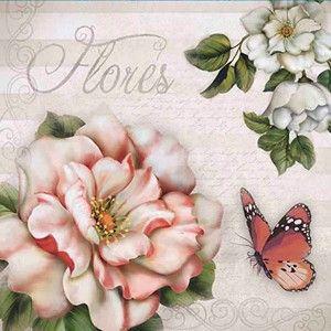 Papel-Decoupage-Adesiva-10x10cm-Flores-DAX-072---Litoarte