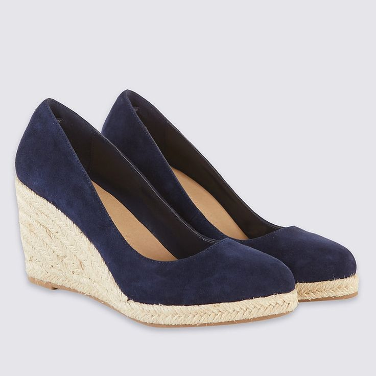 For the Stuart Weitzman Navy 'Corkswoon' Wedges