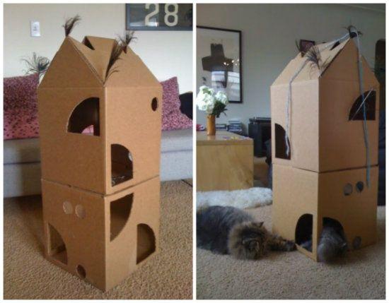 1000 images about cats on pinterest cardboard houses - Casas para gatos baratas ...