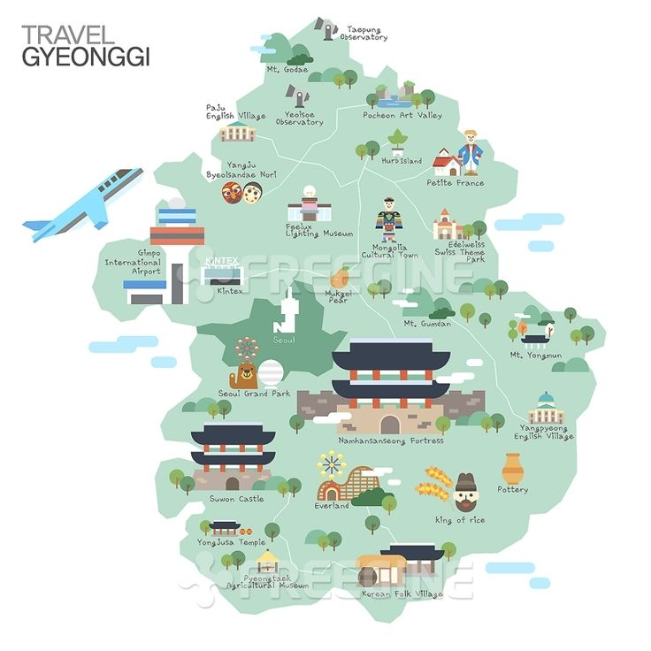 경기도 여행지도를 핵심으로 보아야할곳을 딱딱 보기편하게 디자인을 해놓은거 같다.