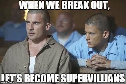 Prison Break / The Flash meme. I was fangirling so hard when I saw Cold (Scofield) and the. I saw his brother and lost it.