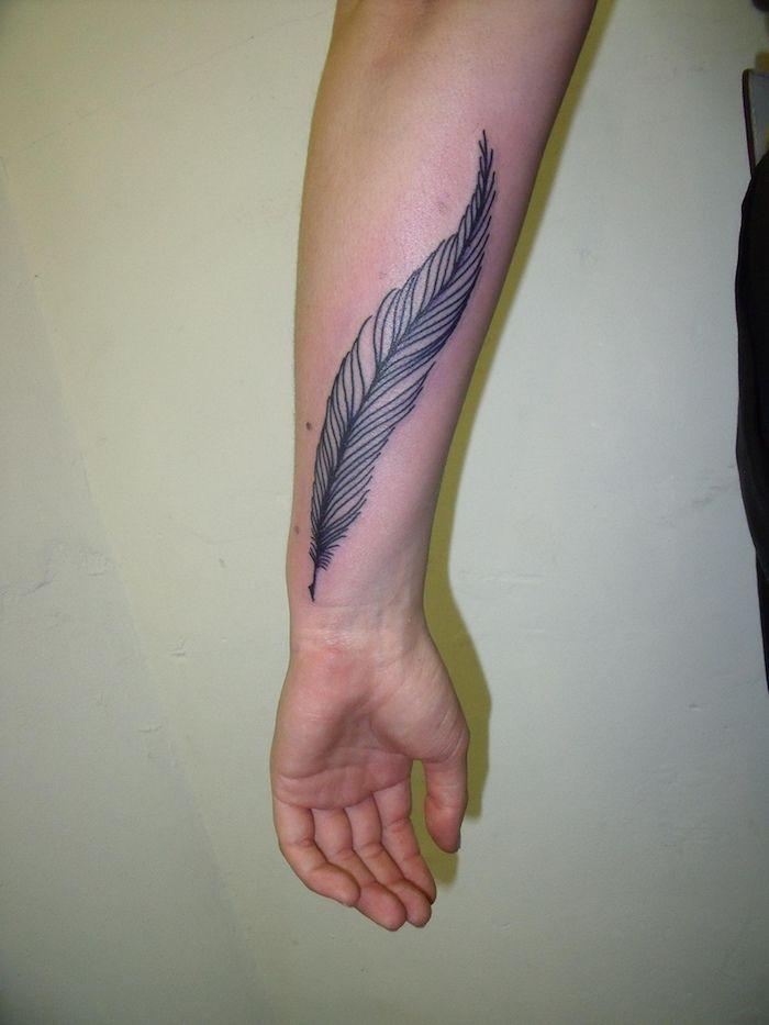 1001 Ideen Und Inspirationen Fur Ein Cooles Feder Tattoo