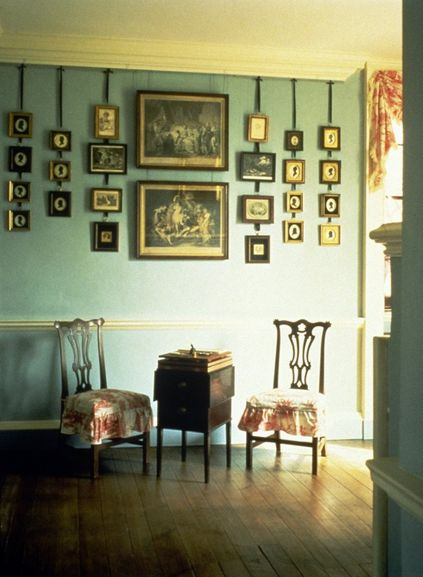 Monticello's Sitting Room featuring Jefferson's collection of silhouettes