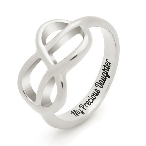 gift infinity promise ring engraved