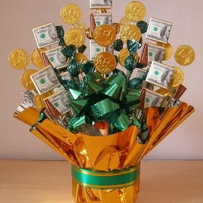 Edible Candy and Money Bouquet- Graduation or 18th birthday gift