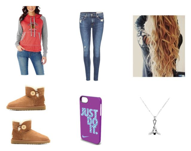 """blackhawks game"" by hockey1619 ❤ liked on Polyvore featuring UGG Australia, rag & bone and NIKE"