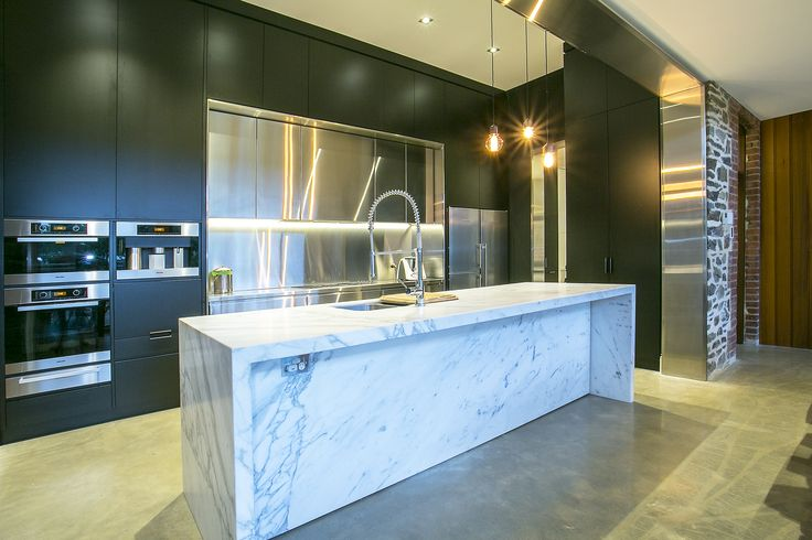 Statuario Calcutta Marble   Stainless Steel   2pac kitchen on our St Peters project