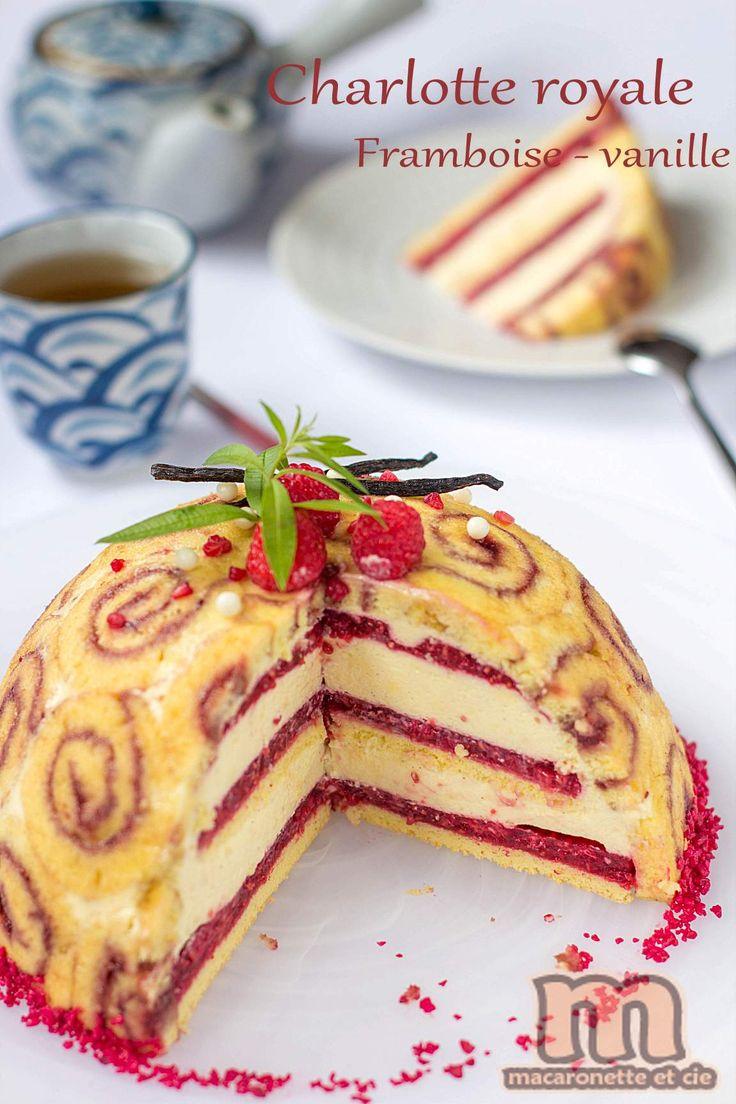 Charlotte royale framboise - vanille - Macaronette et cie