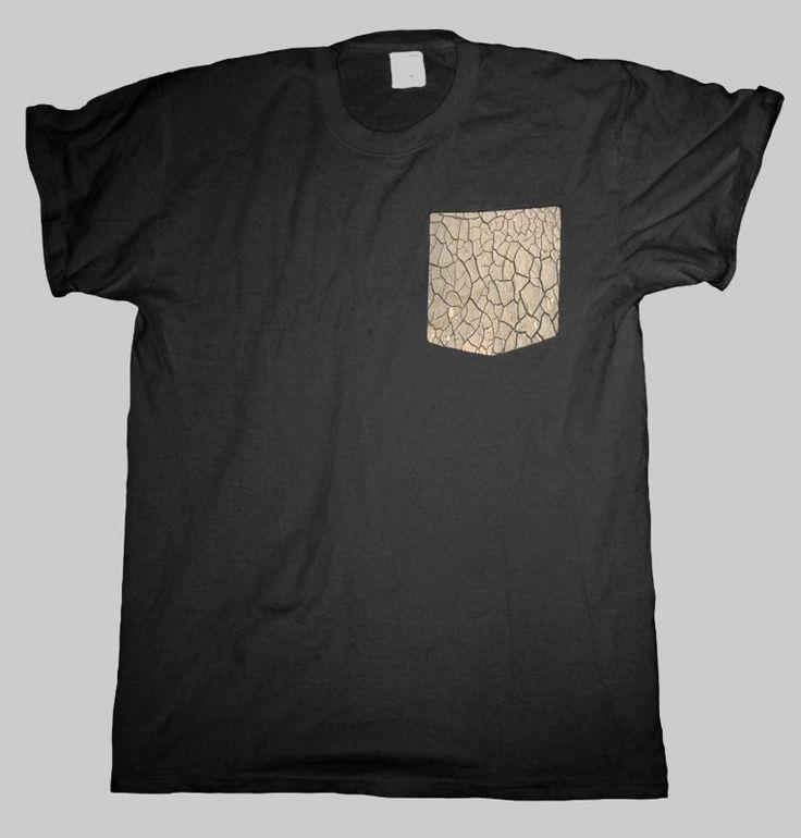 Sand Crack Pocket T Shirt Black Men S - 2XL  #HailFridayCompagnie #PremiumTees