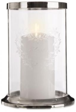 Glass lantern with a heart decoration
