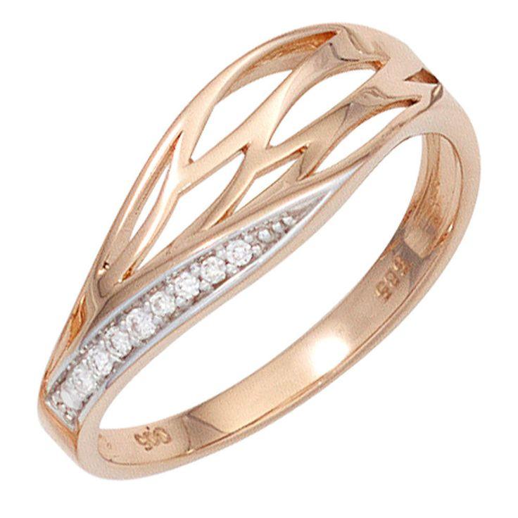 Damen Ring 585 Gold Rotgold Diamanten Brillanten Rotgoldring Diamantring Gr50-60 http://www.ebay.de/itm/Damen-Ring-585-Gold-Rotgold-Diamanten-Brillanten-Rotgoldring-Diamantring-Gr50-60-/152602151479?ssPageName=STRK:MESE:IT #damenring#goldring#diamanten