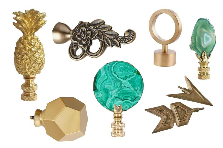 A few twists of the wrist, and these gorgeous finials will be adorning curtain rods, lamps, bed posts and furniture. Adding a decorative finial is the quickest fix we know for rooms that lack character—and the chic, totally un-fussy options on the market today mean they amp up any decor style. Consider this the cherry on top of a well-designed room.