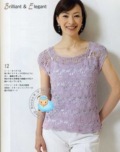 Blusa lila aranas grandes