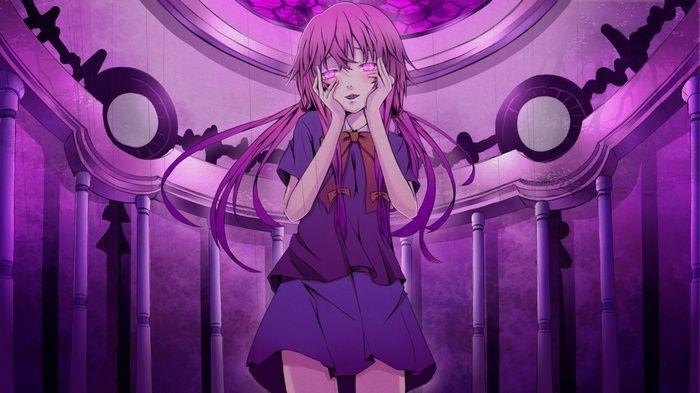 Gasai Yuno Mirai Nikki Pink Eyes Pink Hair Yandere Long Hair Anime Girls Looking At Viewer Ani Mirai Nikki Future Diary Mirai Nikki Yuno Gasai