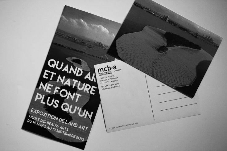 Land Art exposition | Musée des Beaux-Arts | Postcard and brochure
