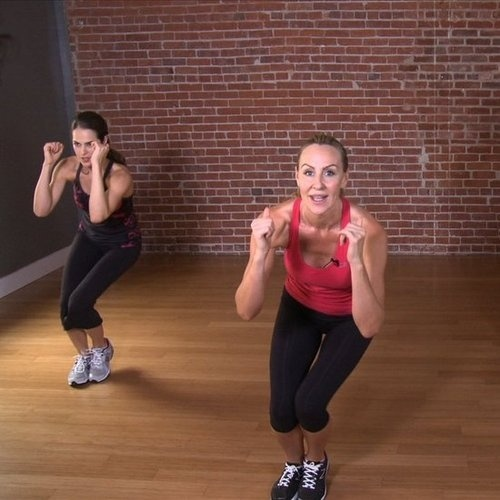 Victorias Secret models full body 10 min workout circuit. Itll get you very sore, but its easy, fun and since its only 10 minutes you can hang in there!