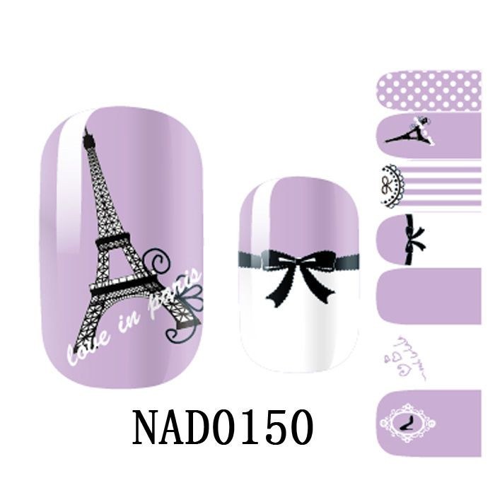 Lovely Purple NAIL WRAPS STICKERS Full Self Adhesive Polish Foils Art Decals New #Dolphin