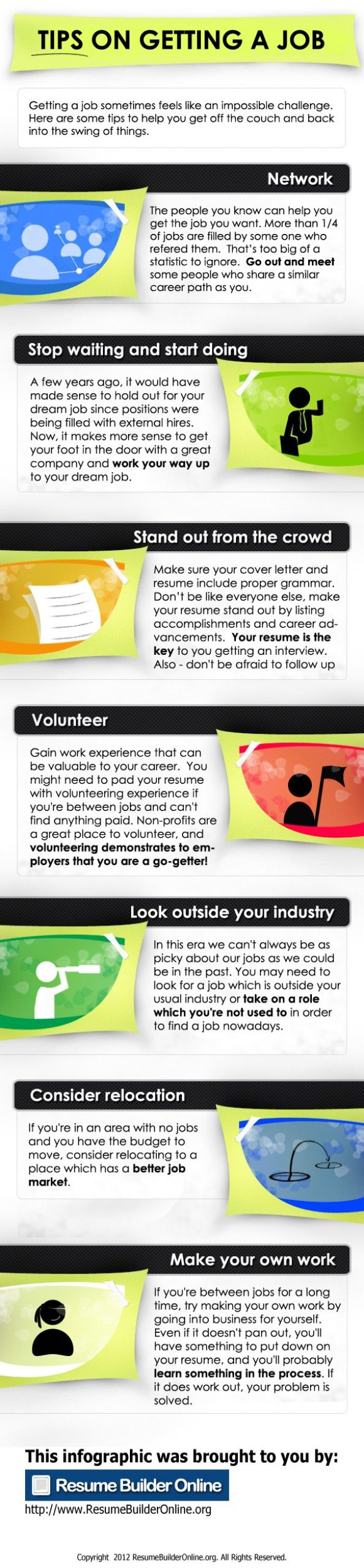 Tips on Getting a Job  Stop by my Shop www.etsy.com/shop/teolddesign  Stop by my Etsy Shop: www.etsy.com/shop/TeoldDesign