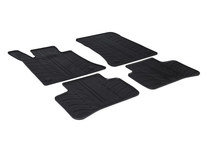 Gledring 2010-2016 Mercedes Benz GLK-Class (X204 ) Custom Fit All Weather Floor Mats - Protect your car floor carpet with these custom molded rubber floor mats. This 4 piece set will cover the floor area for the front and rear seats. The rubber material will hold the floor mats in place. These mats also have holes for the factory floor anchors for an even more secure fitting. There is no trimming needed. Just set them in place and secure the front floor mat anchors in place. These heavy duty…