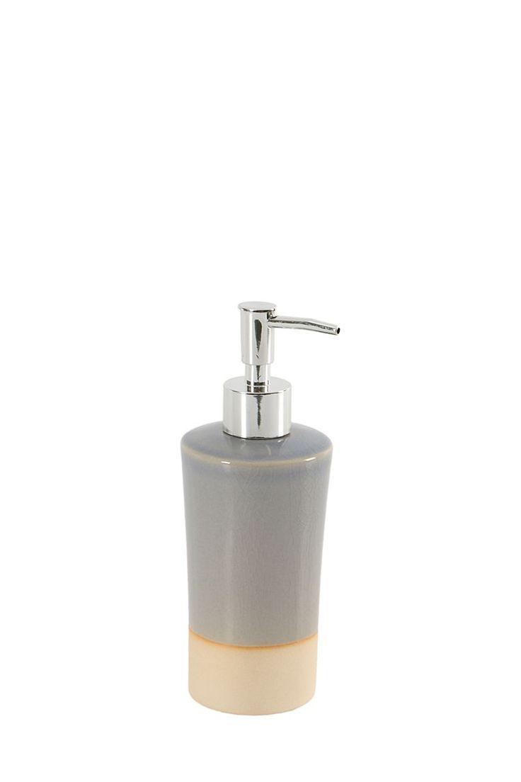 Glazed Ceramic Soap Dispenser  |  Mr P