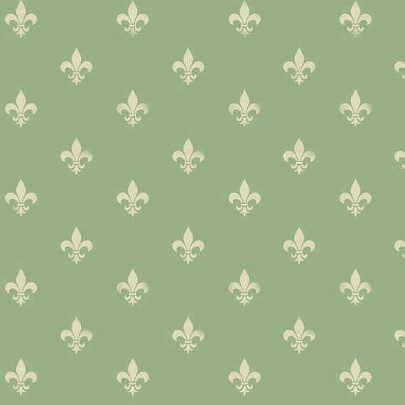 Fleur de lys wallpaper stencil, French style home decorating painting stencil, large wall stencil SEE IMAGES for all SIZE info