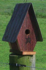Custom Decor Rustic Country Chalet Birdhouse | eBay