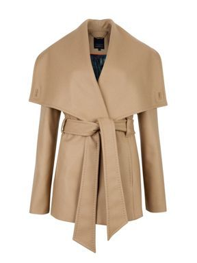 Ted Baker Matild short wrap coat Cream - House of Fraser