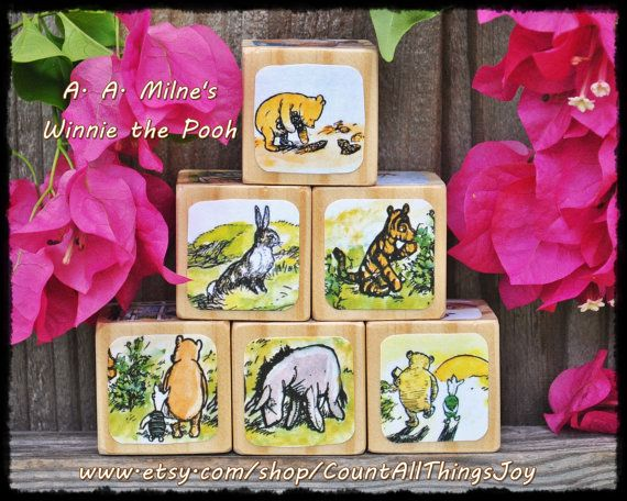 34 best winnie the pooh nursery images on pinterest pooh bear wooden storybook blocks featuring classic winnie the pooh by a available as a set of 6 or wonderful for a baby shower gift or nursery decor by negle Images